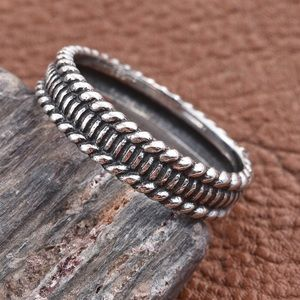 Jewelry - Sterling Silver Black Oxidized Band Ring